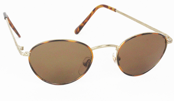 Old-fashion Sonnenbrille im ovalen Metall-Design