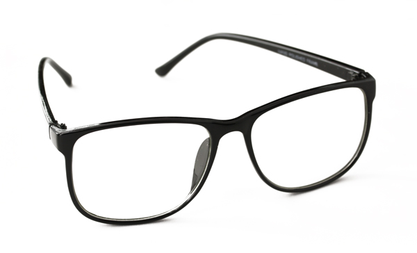Schwarze Brille, chices, viereckiges Design