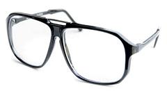 brille mit fensterglas