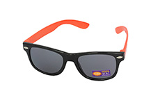 Kindersonnenbrille, schwarz-orange - Design nr. 1097